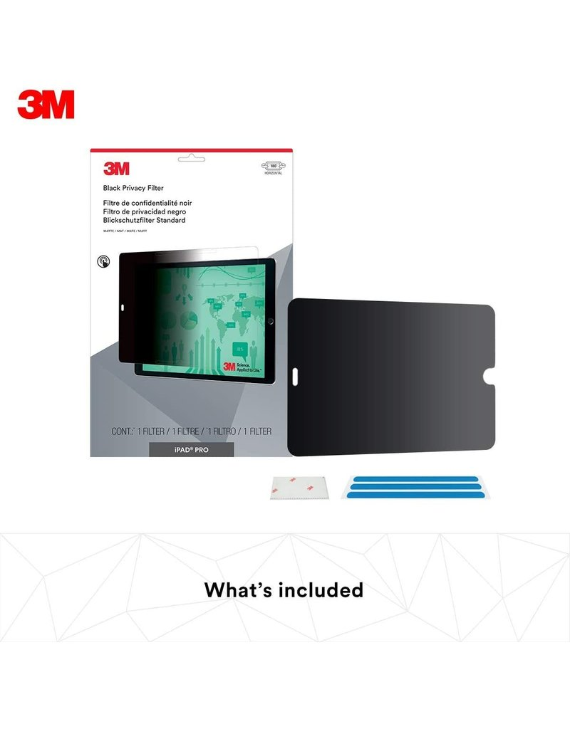 """3M 3M PRIVACY FILTER FOR IPAD PRO 12.9"""" (1ST AND 2ND GEN) LANDSCAPE"""