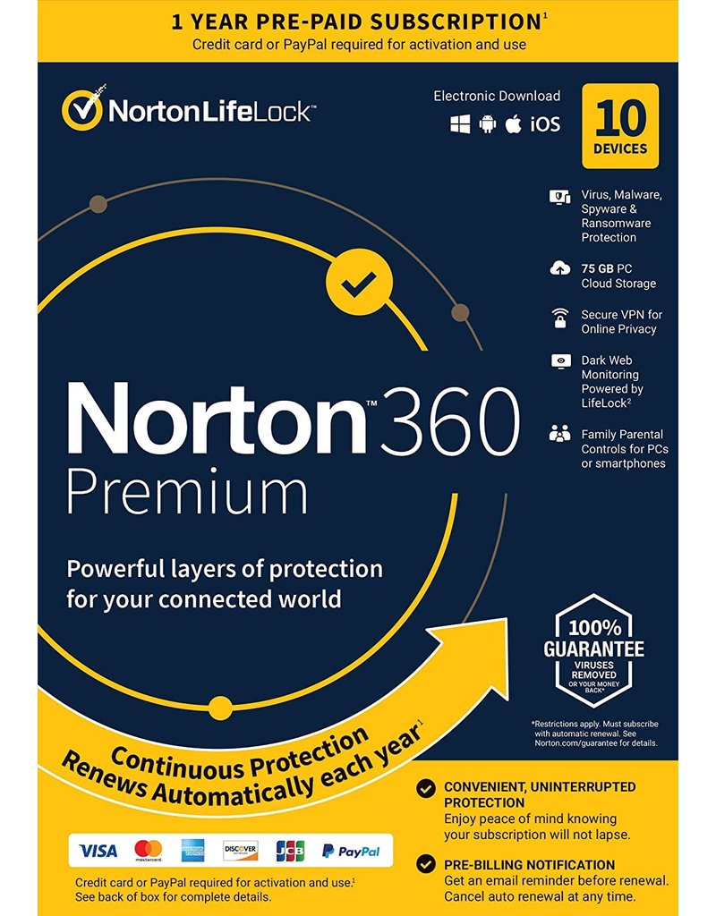 SYMANTEC NORTON SECURITY PREMIUM - 10 DEVICES