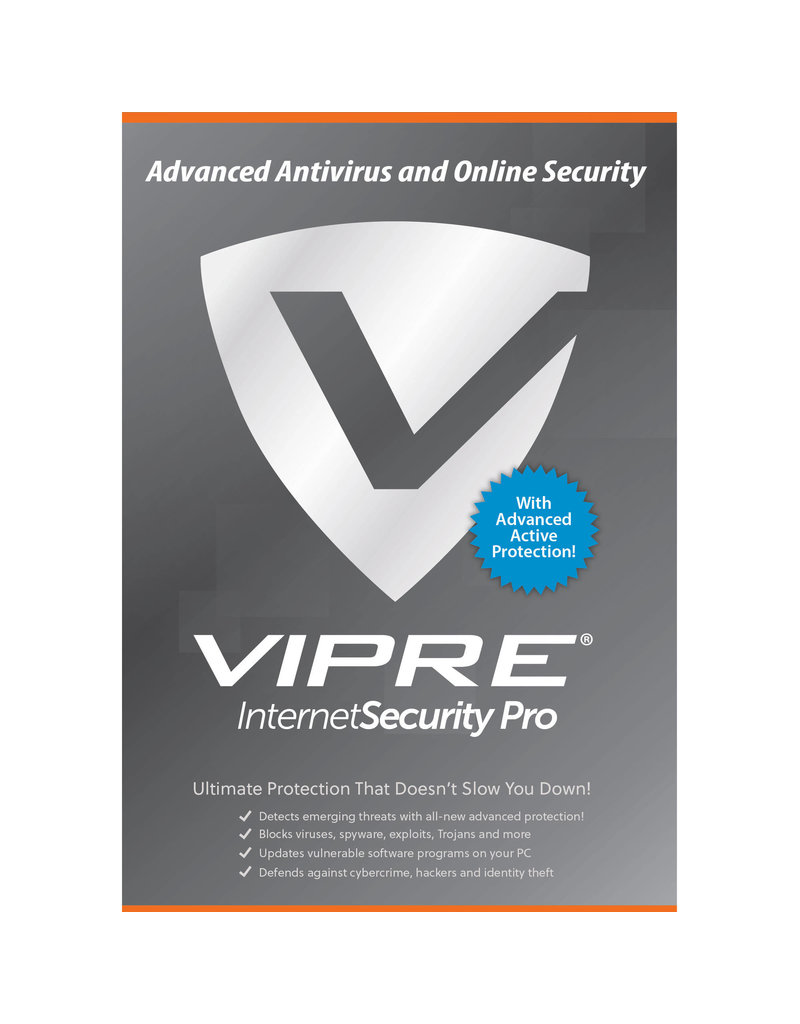 THREATTRACK SECURITY VIPRE INTERNET SECURITY PRO - 3 DEVICE - ANNUAL SUBSCRIPTION FOR WINDOWS