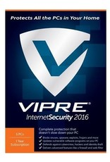 THREATTRACK SECURITY VIPRE INTERNET SECURITY 2016 - 5 DEVICES - ANNUAL SUBSCRIPTION FOR WINDOWS