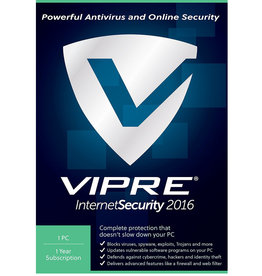 THREATTRACK SECURITY VIPRE INTERNET SECURITY 2016 - 1 DEVICE - ANNUAL SUBSCRIPTION FOR WINDOWS