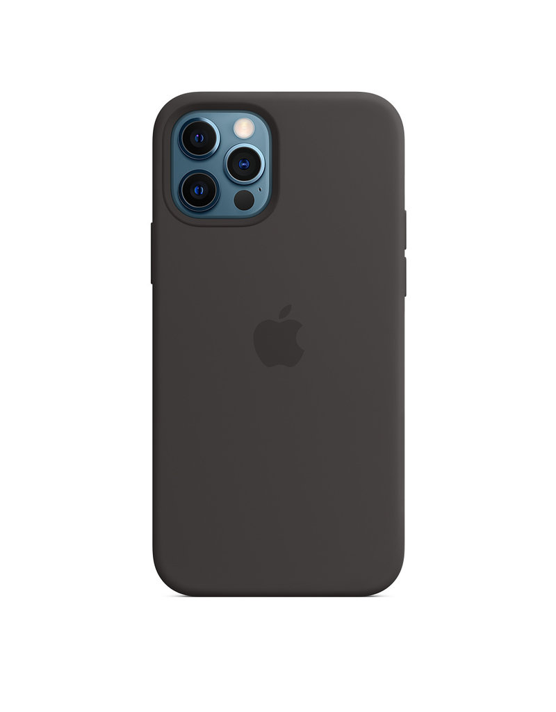 APPLE APPLE IPHONE 12 / 12 PRO  SILICONE CASE WITH MAGSAFE - BLACK