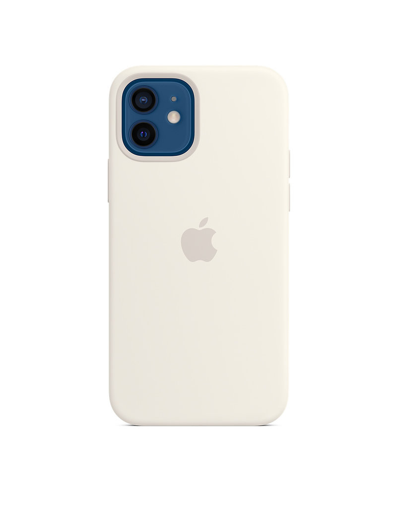 APPLE APPLE  PHONE 12 / 12 PRO  SILICONE CASE WITH MAGSAFE - WHITE