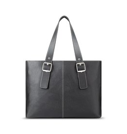 "SOLO SOLO PLAZA TOTE 17.5"" GRAY/RED"