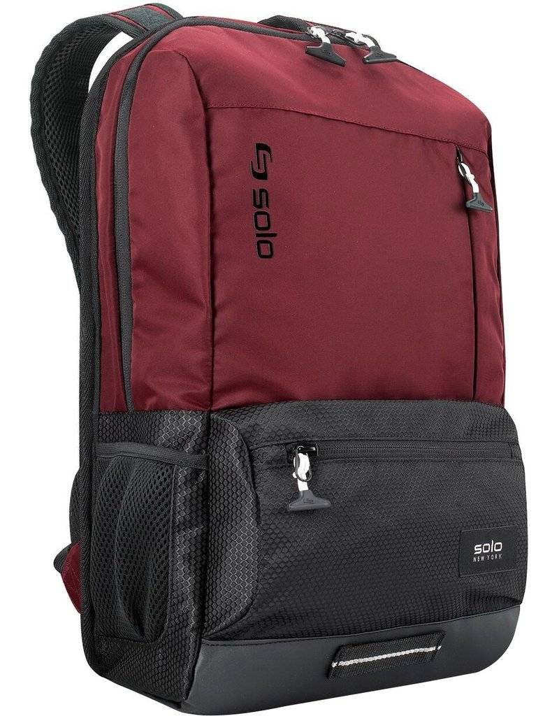 "SOLO SOLO DRAFT BACKPACK 18"" BURGUNDY"