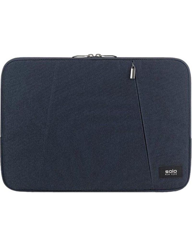 """SOLO SOLO  DOUBLE COMPARTMENT SLEEVE 15.6"""" BLUE"""