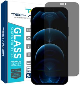 TECH ARMOR TECH ARMOR 2-WAY PRIVACY BALLISTIC GLASS SCREEN PROTECHTOR FOR IPHONE 12 PRO MAX