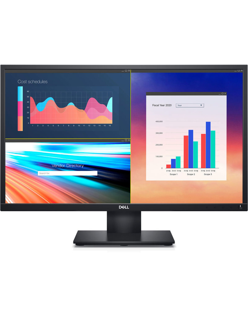 "DELL DELL 24"" DISPLAY W/ HEIGHT ADJUSTIBLE STAND,  SPEAKERS, HDMI AND VGA"