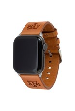 AFFINITY BANDS AFFINITY BANDS 38MM LEATHER ATM APPLE WATCH BAND TAN S