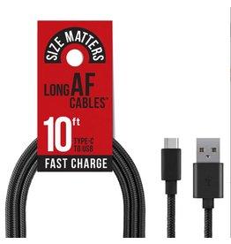 EMOBII EMOBII LONG AF CHARGE & SYNC CABLE REFILL PACK USB-C BLACK