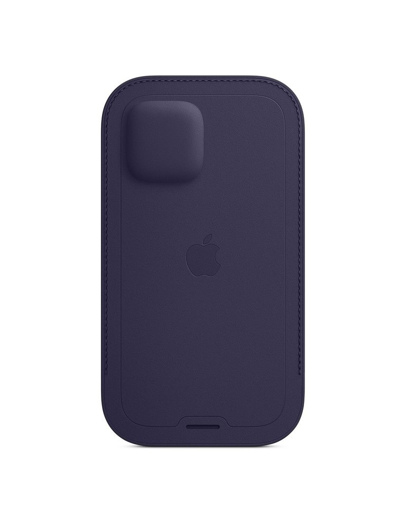 APPLE APPLE IPHONE 12   12 PRO LEATHER SLEEVE WITH MAGSAFE DEEP VIOLET