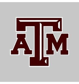 """AGGIELAND OUTFITTERS STICKER - TEXAS A&M LOGO CHISELED 3"""""""