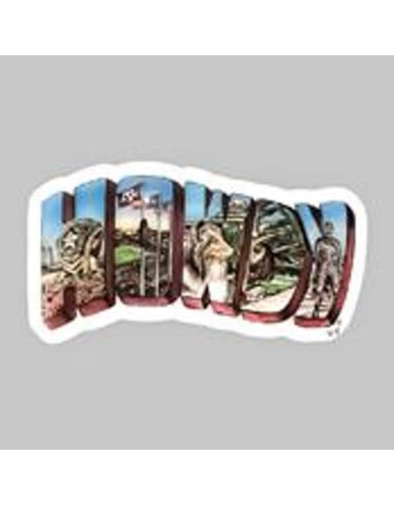 AGGIELAND OUTFITTERS STICKER - HAILEY HOWDY DIZZLER