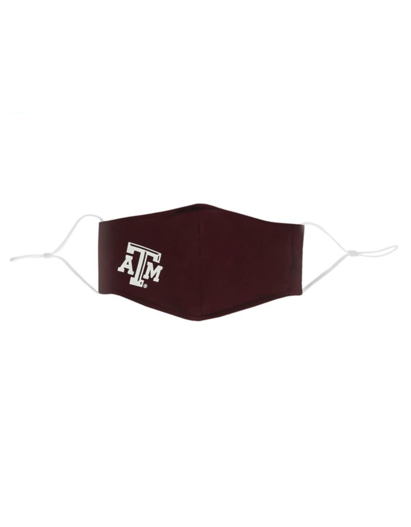 AGGIELAND OUTFITTERS FACEMASK ANTIMICROBIAL ATM MAROON EARLOOP