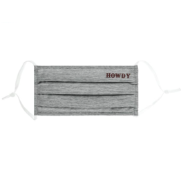 AGGIELAND OUTFITTERS FACEMASK  HOWDY GRAY