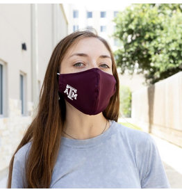 AGGIELAND OUTFITTERS FACEMASK  ATM POLY MAROON