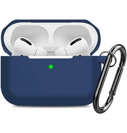 CTPEPPER AIRPODS PRO SILICONE CASE WITH HINGE KEYCHAIN MIDNIGHT BLUE