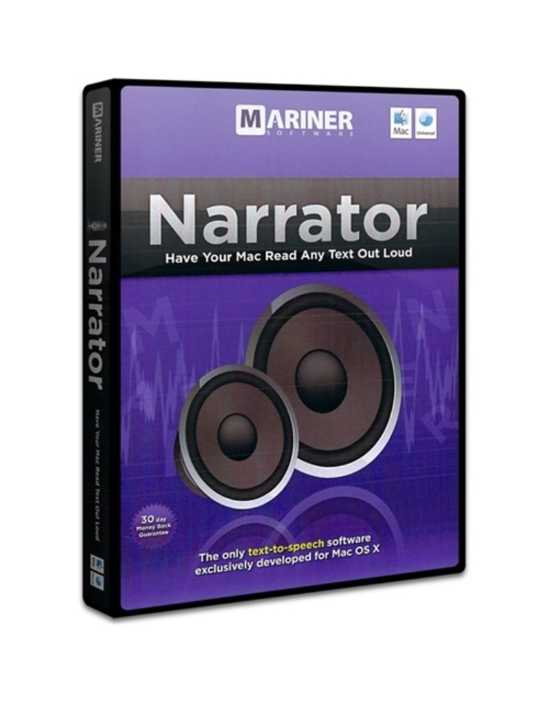 MARINER SOFTWARE NARRATOR FOR MAC