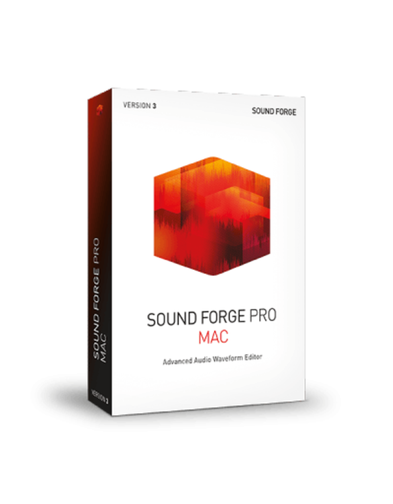 SOUND FORGE PRO 3 COMMERCIAL FOR MAC