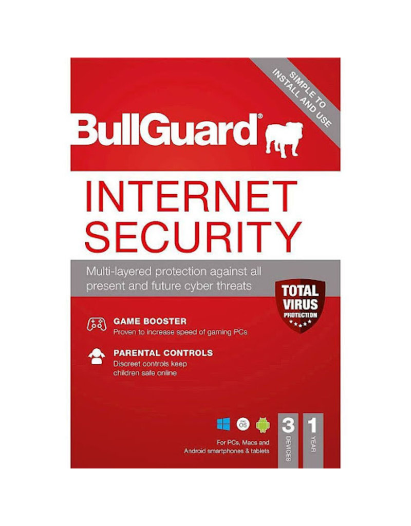 BULLGUARD INTERNET SECURITY 2018 EDUCATIONAL - 1 YEAR / 3 DEVICES