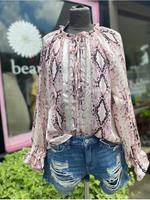 Snake print shimmer blouse