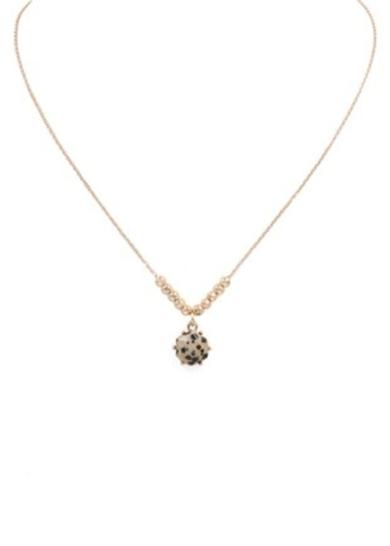 Dalmatian stone pendant