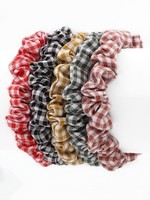 Plaid stripe scrunchies