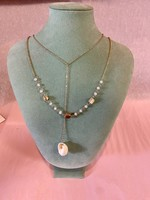 Gold Ivory Shell Y Necklace