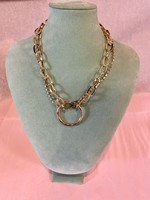 Metal Ring Layered Necklace