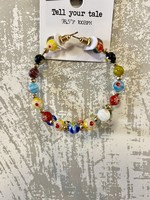 Multi Stone Bead Earrings