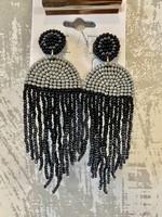 Grey Seed Bead Dangles