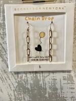 Worn Gold Chain Earrings
