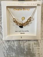 Worn Gold Half Chain Necklace
