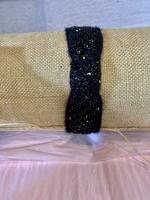 Black Gold Freckle Headband