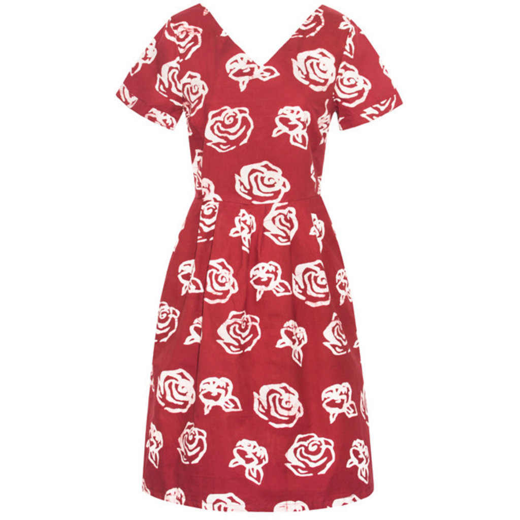 Global Mamas Red Roses Verona Dress