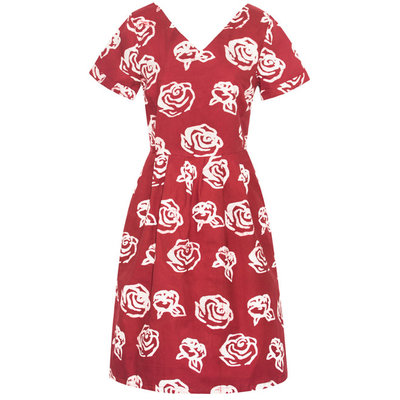 Global Mamas Red Roses Verona Dress