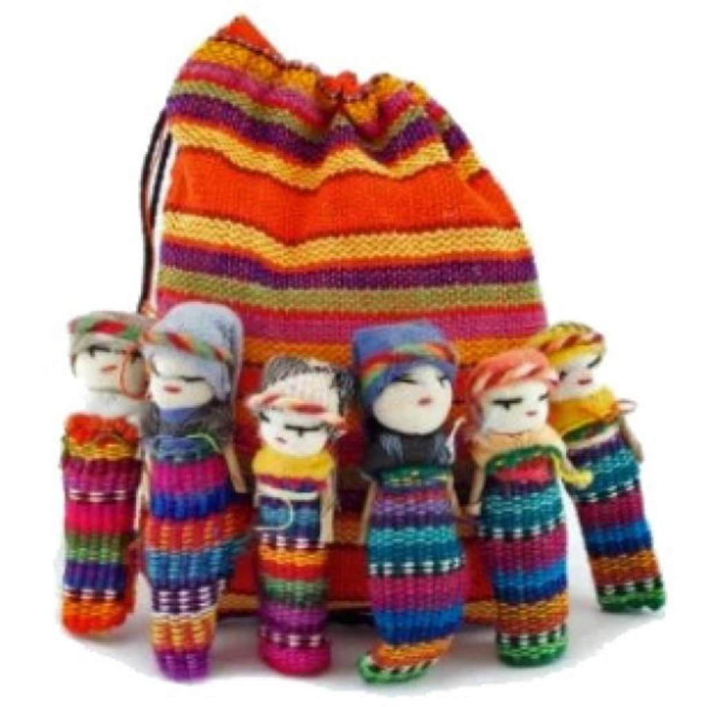 "Lucia's Imports 2"" Worry Doll Family"