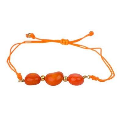 Ten Thousand Villages 7 Vibes Bracelet Orange