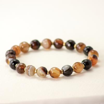 DZI Handmade Agate Stone Bracelet