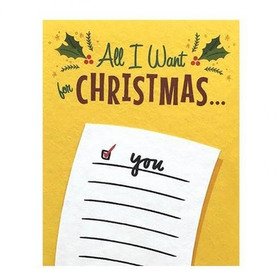 Good Paper All I Want Christmas Card