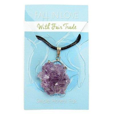 Minga Imports Amethyst Specimen Necklace
