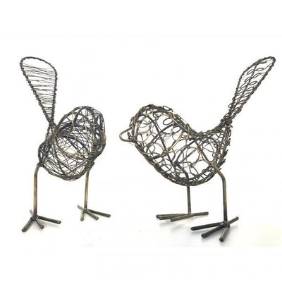 Mira Fair Trade Antiqued Wire Bird
