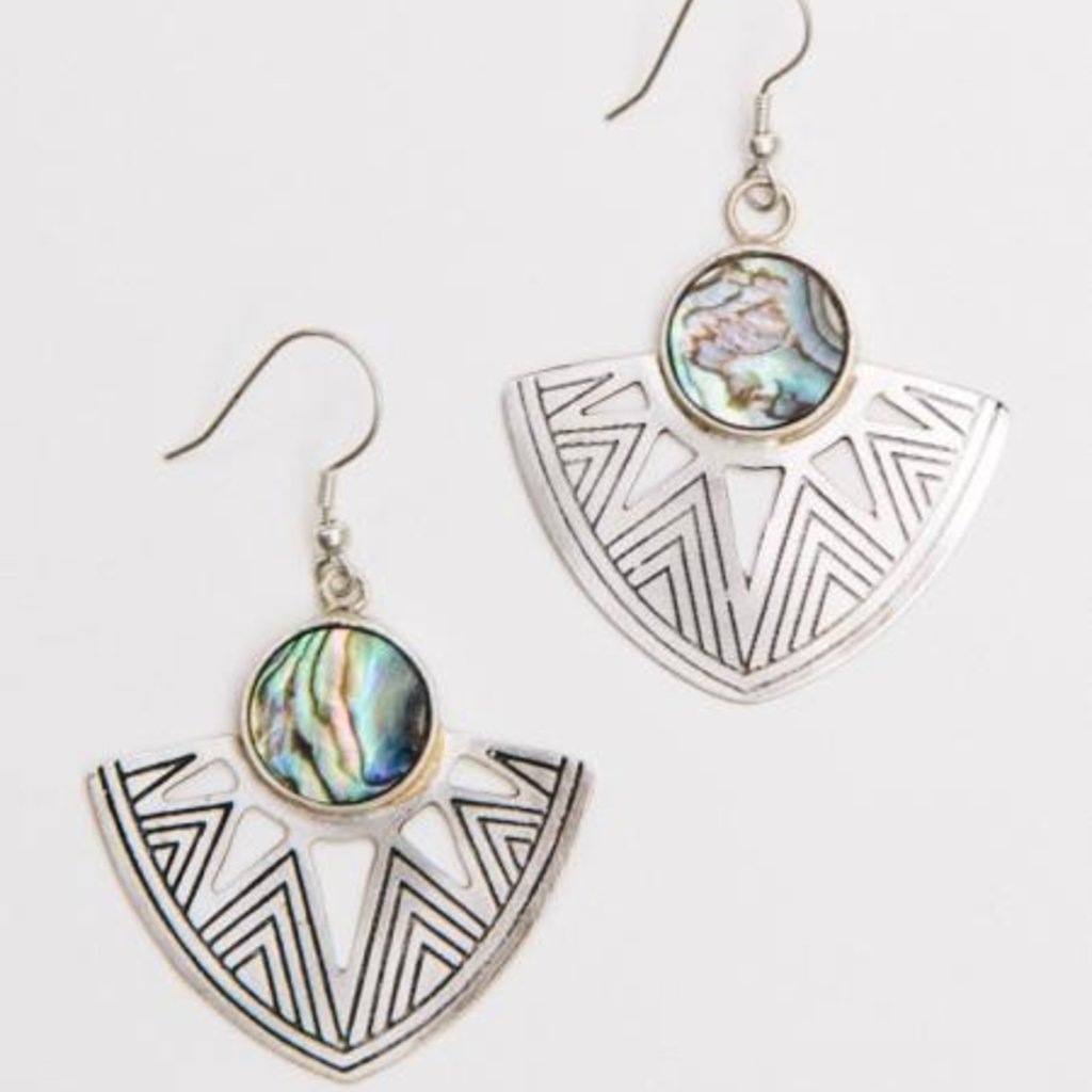 Mata Traders Astral Point Silver Earrings