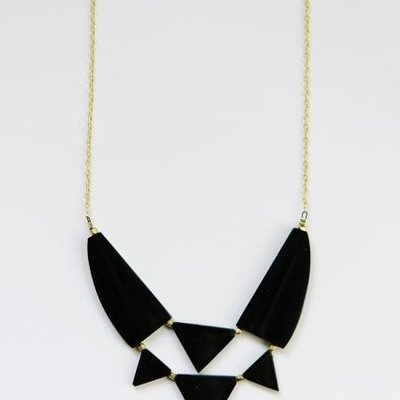 Mata Traders Azzizi Black Upcycled Bone Necklace