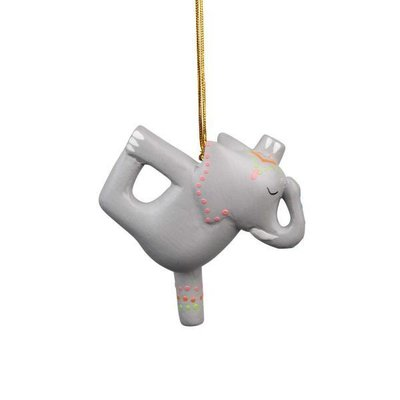 Ten Thousand Villages Balancing Act Elephant Ornament