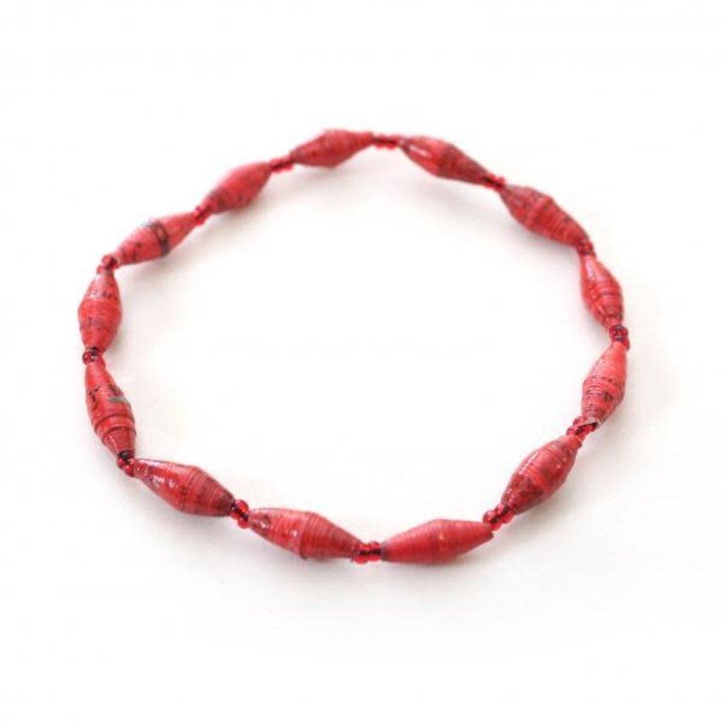 Creation Hive 1 - Strand Magazine Bracelet Red