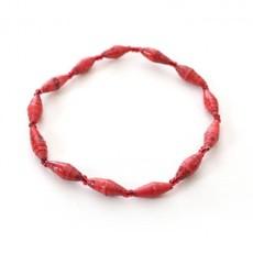 Imani Workshops 1 - Strand Magazine Bracelet Red