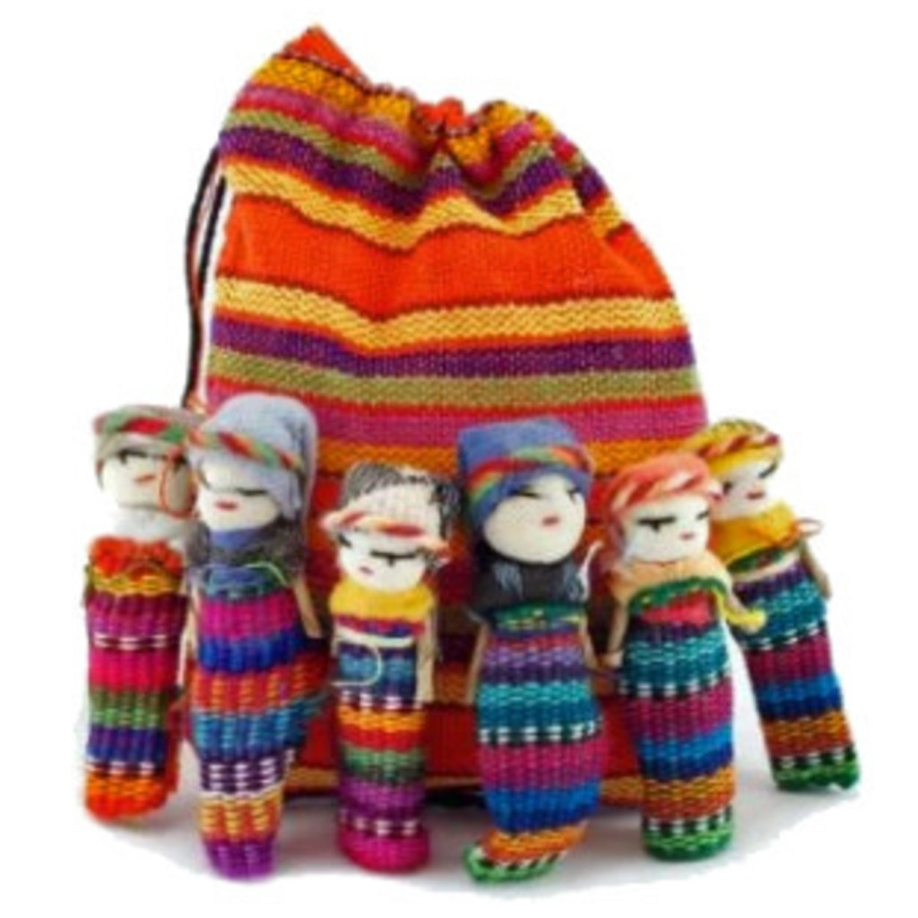 """Lucia's Imports 2"""" Worry Doll Family"""