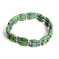 Imani Workshops 3-Strand Magazine Bracelet Green