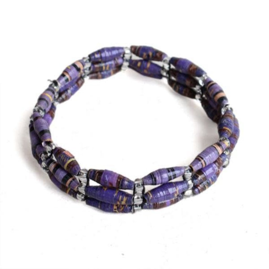 Creation Hive 3-Strand Magazine Bracelet Purple